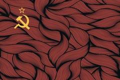 Abstrakte strukturierte Flagge von der Sowjetunion Lizenzfreies Stockbild