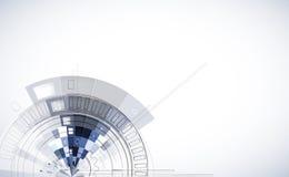Abstrakte Strukturstromkreiscomputer-Würfeltechnologie Lizenzfreie Stockbilder