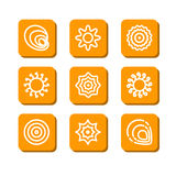 Abstrakte Symbole Stockbild