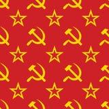 Abstrakte Symbole des UDSSR-Hintergrundes. Nahtlos. Lizenzfreies Stockfoto