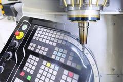 Abstrakte Szene der 5 Achse CNC-Maschine Stockbild