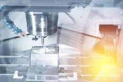 Abstrakte Szene der Fräsmaschine CNC Lizenzfreie Stockbilder