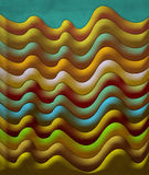 Abstrakte Szene der Weinlese mit Wellen Stockbild