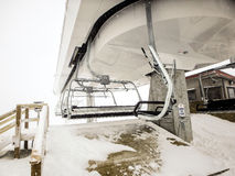 Abstrakte Szenen am Skiort während des Schneesturms Lizenzfreie Stockfotografie