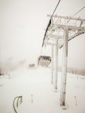 Abstrakte Szenen am Skiort während des Schneesturms Lizenzfreie Stockfotos