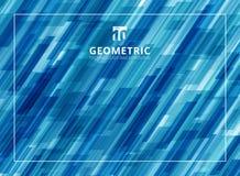 Abstrakte Technologie überschnitt diagonal geometrisches Quadrate shap Stockbilder
