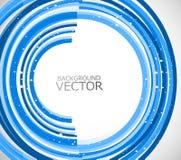 Abstrakte Technologie zeichnet blauen Kreis   Stockfoto