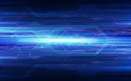 Abstrakte Technologiehintergrund-Leiterplatte und HTML-Code, 3D Stockfoto