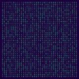 Abstrakte Technologieillustration mit verschiedenen Symbolen Abstrakte Codedarstellung Auch im corel abgehobenen Betrag lizenzfreie abbildung