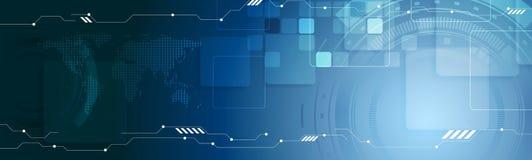 Abstrakte Technologienetz-Titelfahne Lizenzfreie Stockfotos