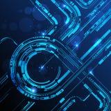 Abstrakte Technologiezeile Hintergrund Stockfotos
