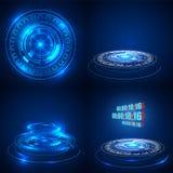 Abstrakte technologische Hintergrundvektorillustration High-Techer Konzepthintergrund futuristisches sci FI stock abbildung
