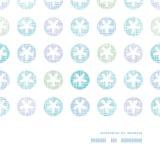Abstrakte Textilschneeflocken Dots Horizontal Frame Stockfotografie