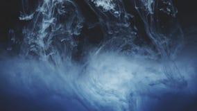 Abstrakte Tintenfarbe, die in Wasser flie?t stock video