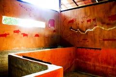 Abstrakte Toilette mit vielen Malerei Lizenzfreie Stockfotografie