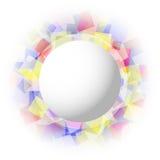 Abstrakte transparente farbige Quadrate Lizenzfreies Stockfoto