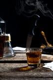 Abstrakte trinkende Szene Stockbild
