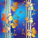 Abstrakte tropische Blumen - Innentapete vektor abbildung