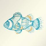 Abstrakte tropische Fische lizenzfreie abbildung