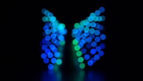 Abstrakte Unschärfe mit Blinken bokeh hellen Lichtern Langsame Bewegung stock video footage