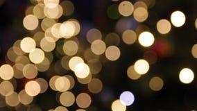 Abstrakte Unschärfe mit blinkender bokeh heller Partei beleuchtet Defocused abstrakter Hintergrund des Zusammenfassungsfunkelns stock video