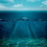 Abstrakte Unterwasserhintergründe Lizenzfreies Stockbild