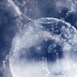 Abstrakte Unterwasserspiele mit Blasen, Geleebällen und Licht Stockfotos