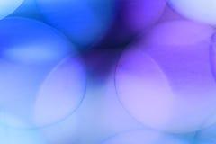 Abstrakte Unterwasserspiele mit Blasen, Geleebällen und Licht Stockfotografie