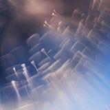 Abstrakte Unterwasserspiele mit Blasen und Licht Stockbild