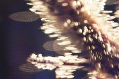 Abstrakte Unterwasserspiele mit Blasen und Licht Stockbilder