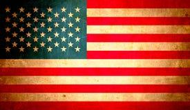 Abstrakte USA-Flagge, Schmutzhintergrunddesign Stockfotografie