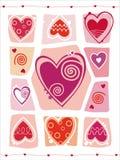 Abstrakte Valentinsgruß-Tagesauslegung mit Innerem. Stockbilder