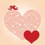 Abstrakte Valentinsgrußtagesgrußkarte stock abbildung