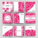 Abstrakte Vektor-Broschüren-Schablone ENV 10 Stockfoto