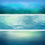 Abstrakte Vektor-Wasser-Fahnen lizenzfreie abbildung