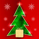 Abstrakte Vektor-Weihnachtsgruß-Karte vektor abbildung