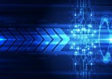 Abstrakte Vektorgeschwindigkeitstechnologie-Hintergrundillustration Lizenzfreies Stockfoto