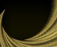 Abstrakte Vektorgoldstaub-Funkelnsternwelle lizenzfreie abbildung