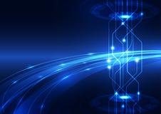 Abstrakte Vektorhallo Geschwindigkeitsinternet-Technologiehintergrundillustration Lizenzfreie Stockfotos
