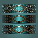 Abstrakte Vektorillustration einer schraubenartigen DNA Stockbild