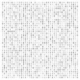 Abstrakte Vektorillustration mit binär Code Technologische Beschaffenheit Digital vektor abbildung