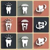 Abstrakte Vektorillustrationen von Zähnen Stockfoto