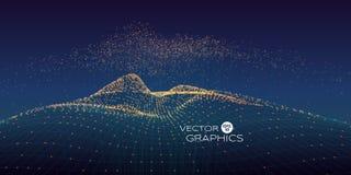 Abstrakte vektorlandschaft stockbilder