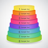 Pyramide der Farbe 3d Lizenzfreies Stockfoto
