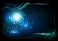 Abstrakte Vektorschnittstelle der Technologie stockbild