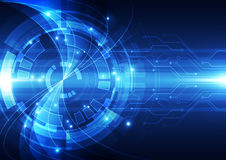 Abstrakte Vektortechnologie-Hintergrundillustration Stockfoto