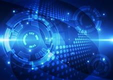 Abstrakte Vektortechnologie-Hintergrundillustration Stockfotos