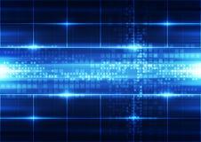 Abstrakte Vektortechnologie-Hintergrundillustration Lizenzfreies Stockfoto