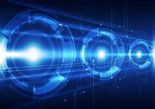 Abstrakte Vektortelekommunikationstechnologie-Hintergrundillustration Lizenzfreies Stockfoto