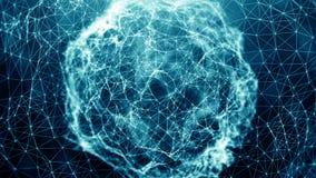 Abstrakte Verbindungspunkte Telefon mit Planetenerde und binärem Code Digital-Thema Vektorabbildung für Auslegung lizenzfreie abbildung